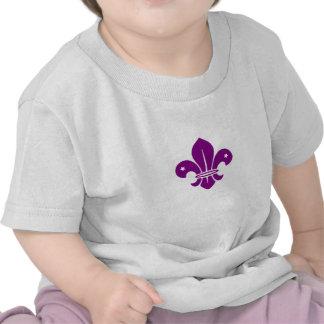 Purple Fleur De Lis T-shirt