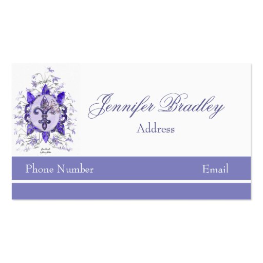 Purple Fleur di li Business Card