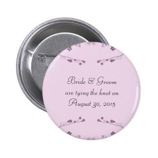 Purple Flora Vines Button