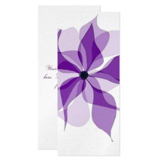 Purple Floral 10 Cm X 24 Cm Invitation Card