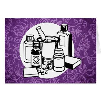 Purple Floral Cloth - Fibromyalgia Awareness Card