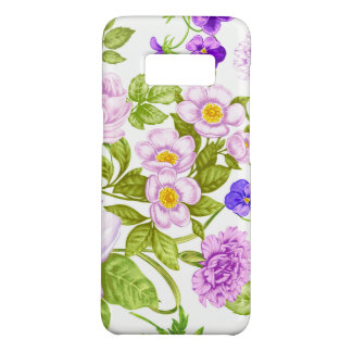 Purple floral fun pattern Samsung Galaxy S8 case