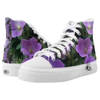 Purple Floral HighTops
