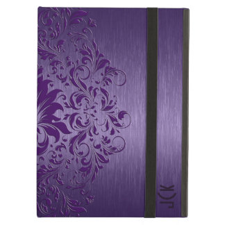 Purple Floral Lace On Purple Background iPad Air Case