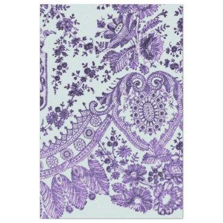 Purple Floral Lace Pattern Tissue Paper