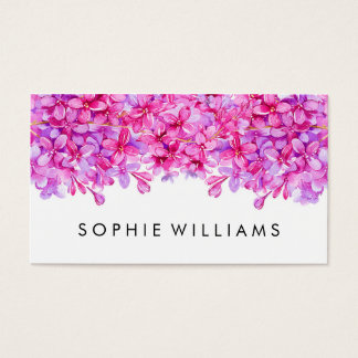 Purple Floral Lilacs Professional Business Card