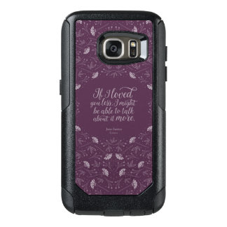 Purple Floral Love Quote Emma Book Jane Austen OtterBox Samsung Galaxy S7 Case