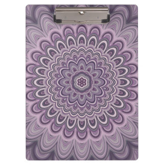 Purple floral mandala clipboard