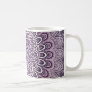 Purple floral mandala coffee mug