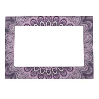Purple floral mandala magnetic frame