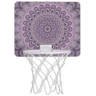 Purple floral mandala mini basketball hoop