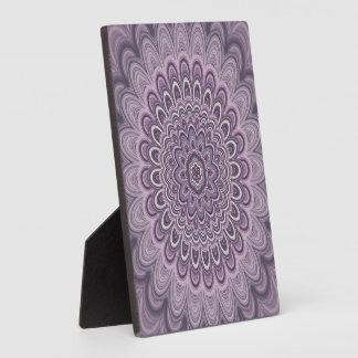 Purple floral mandala plaque