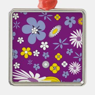 Purple Floral Metal Ornament