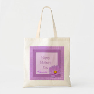 Purple Floral Mothers Day Tote Bag