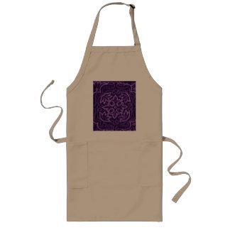 Purple Floral Patchwork Fabric Long Apron
