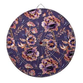 Purple Floral Pattern Dart Board