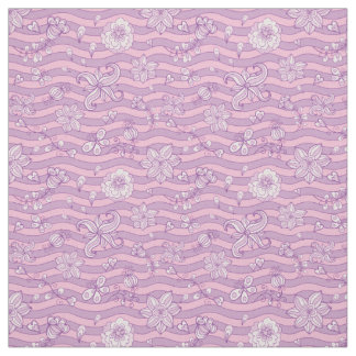 Purple floral pattern Fabric