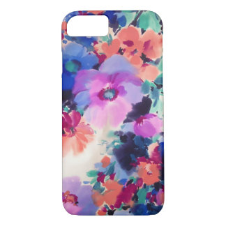 Purple Floral pattern iPhone 7 case