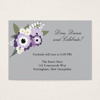 Purple Floral | Reception Card