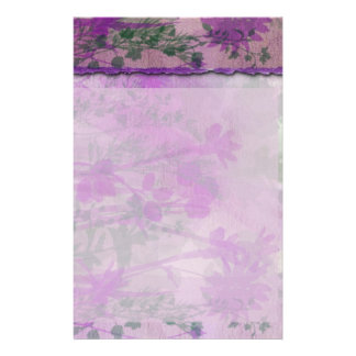 Purple Floral Stationery