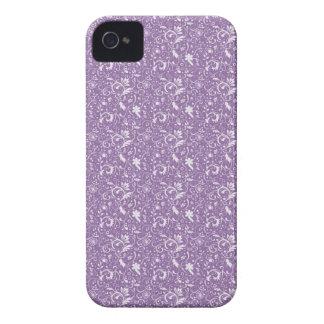 Purple Floral Swirls iPhone4/4S iPhone 4 Case-Mate Case