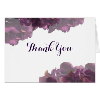 Purple Floral Thank You Notes Note Card