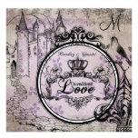 Purple Floral Unconditional Love Wedding Invite