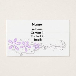 Purple Floral Vines Business Card