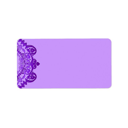 Purple Floral Vintage Art Blank Address Labels