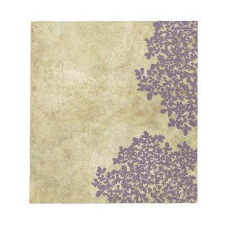 Purple Floral Vintage Notepad