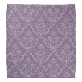 Purple floral wallpaper bandana