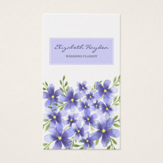 Purple Floral wedding florist Business Cards