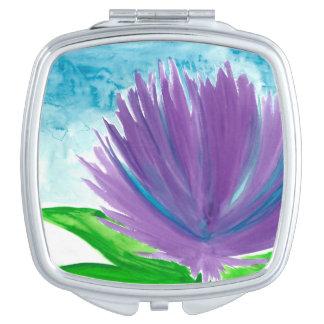 Purple Flower 1 Compact Mirror