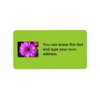 Purple Flower, Address labels