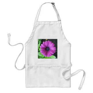 Purple flower standard apron