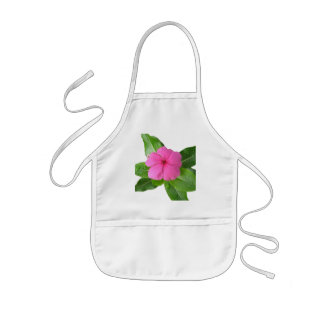 purple flower kids apron