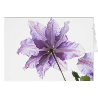 Purple flower art print card