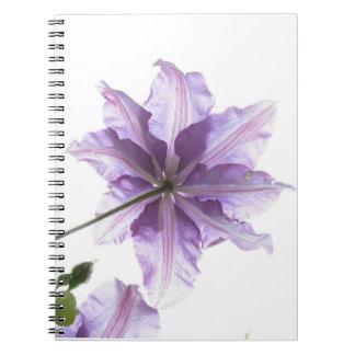 Purple flower art print notebook