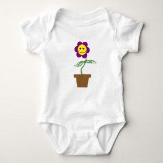 Purple Flower Baby Bodysuit