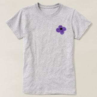 Purple Flower Bike T-Shirt