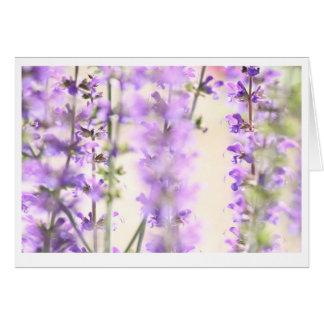 Purple flower blank inside greeting card