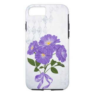 purple flower bouquet with ribbon iPhone 8/7 case
