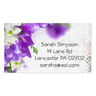 purple flower business cards