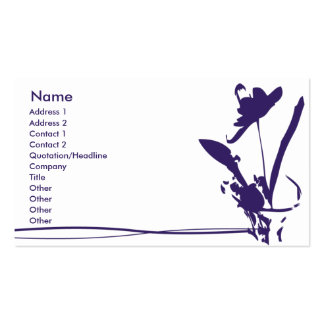 Purple Flower - Business Pack Of Standard Business Cards