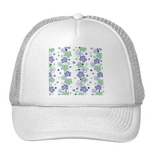 Purple Flower Chains Trucker Hats