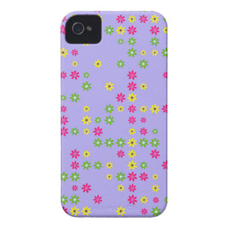 Purple Flower Confetti Case-Mate iPhone 4 Cases