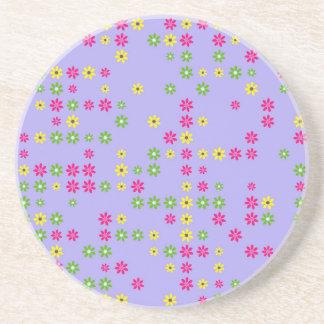 Purple Flower Confetti Coaster