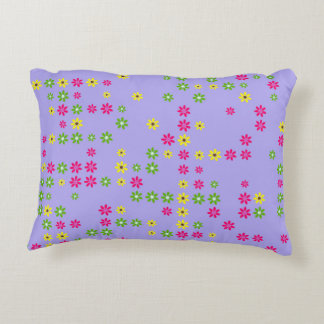 Purple Flower Confetti Decorative Cushion