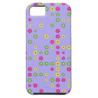 Purple Flower Confetti iPhone 5 Cases