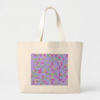 Purple Flower Confetti Large Tote Bag